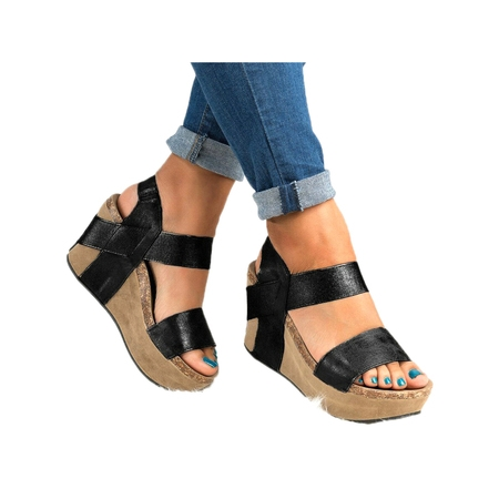 Heel Dorsay Style Platform Sandal (Women Casual Wedge High Heel Open Toes Sandals Platform Shoes Summer)
