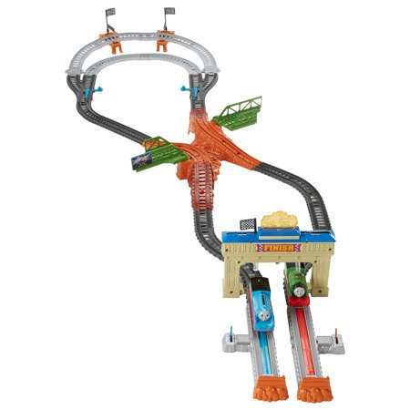 Fisher Price DFM53 Thomas & Friends TrackMaster Thomas & Percy Railway Race Set - Fischer Race Skis