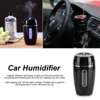USB Car Office Ultrasonic Adjustable Humidifier Air Purifier Aroma Diffuser Mist Maker Black, Air Humidifier, Car Humidifier