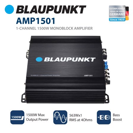 Blaupunkt AMP7502 Car Full-Range Amplifier 750 Watts 2-Channel