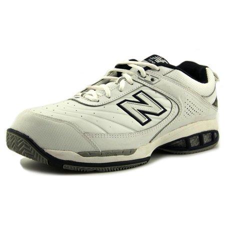 New Balance MC806 Men  Round Toe Leather White Tennis (Mens White Leather Sneaker)
