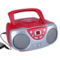 SYLVANIA SRCD243M Portable CD Boom Box with AM/FM Radio (Red)