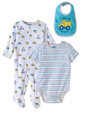 Newborn Baby Boy Take-Me-Home, 3pc Oufit Set