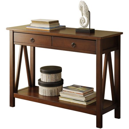 Featuring Console (Linon Titian Console Table, 31 inches Tall, Multiple Colors)