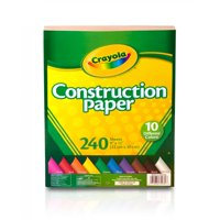 """Crayola Construction Paper, School and Craft Supplies, 9""""x12"""", 10 Colors, 240 Sheets"""