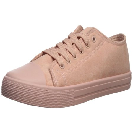 Qupid Womens Narnia Fabric Low Top Lace Up Fashion Sneakers