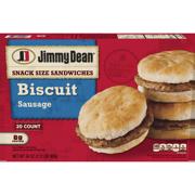Jimmy Dean® Snack Size Sausage Biscuit Sandwiches, 20 Count (Frozen)