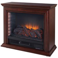 Pleasant Hearth Sheridan Mobile Infrared Fireplace - Cherry