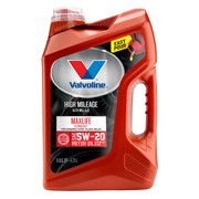(6 Pack) Valvoline High Mileage with MaxLife Technology SAE 5W-20 Synthetic Blend Motor Oil - Easy Pour 5 Quart