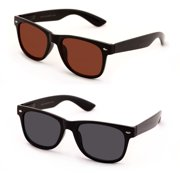 c309cbc3fe V.W.E. Classic Outdoor Reading Sunglasses - Comfortable Stylish Simple Readers  Rx Magnification