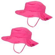 b9f5ea78 Sun Protection Zone Kids UPF 50+ Safari Sun Hat - Pink (Pack of 2