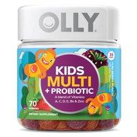 OLLY Kids' Multi + Probiotic, Multivitamin Gummies, Berry, 70 Ct