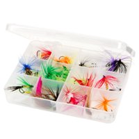 Dry Fly Fishing Lure Kit - Essential Freshwater Hook Tackle Box Assortment for Trout, Salmon or Bass Anglers by Wakeman Outdoors (25 Pieces)
