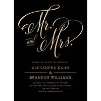 Mr and Mrs Standard Wedding Invitation
