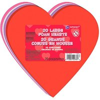 """Amscan Valentine's Day Large Craft Foam Hearts Party Favor & Decoration (20 Pieces), Multicolor, 6"""""""