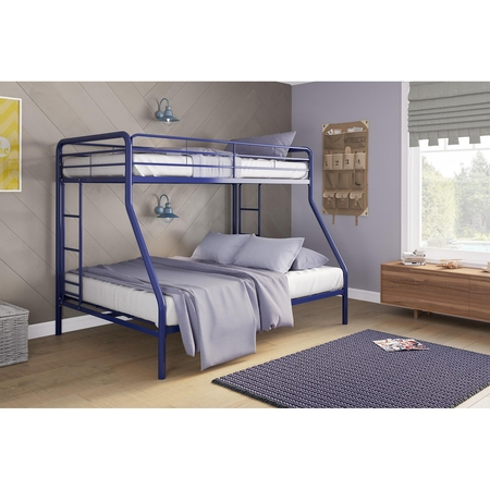 Bunk Full Bed - DHP Twin Over Full Metal Bunk Bed Frame, Multiple Colors