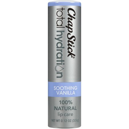 (2 pack) ChapStick Total Hydration Lip Balm, Soothing Vanilla ()
