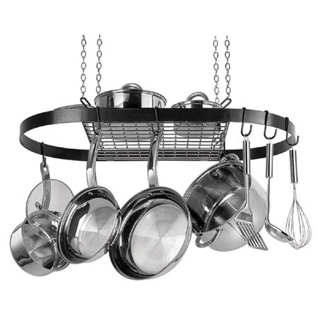 - Range Kleen CW6000 Black Enameled Steel Oval Hanging Pot Rack
