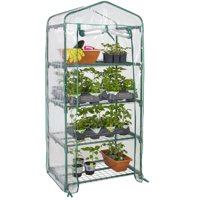 Best Choice Products 4-Tier Mini Greenhouse w/ Cover and Roll-Up Zipper Door