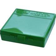 "MTM P-100 FLIP-TOP PISTOL AMMO BOX 1.22"" OAL GREEN POLY"