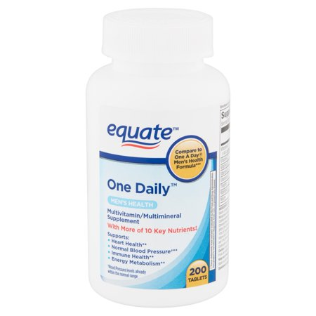 Equate One Daily Men's Health Tablets, 200 count Aloe Vera 200 60 Tablets