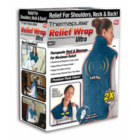 NEW! Relief Wrap ULTRA, Heat and Massage Therapy Wrap, Blue