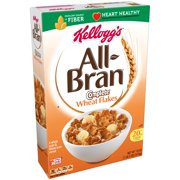 (2 Pack) Kellogg's All-Bran Complete Wheat Flakes Breakfast Cereal, 18 Oz