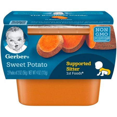 Gerber 1st Foods Sweet Potato Baby Food, 4 oz. Sleeve (Pack of