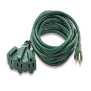 Hyper Tough 25ft 16/3c Green Triple Outlet Cord