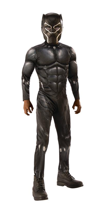 Rubies Costume Co. Black Panther Light-up Muscle Chest Child Costume - Long Black Hair Costume