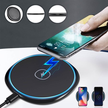 Universal Qi Wireless Fast Charger Charging Stand Dock Pad for Samsung Galaxy S8, Note8, S7, S7 Edge, S6 Edge, S6 Edge Plus, Note5 Mobile (Verizon Cell Phone Charger)