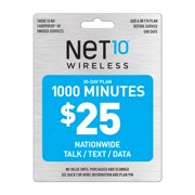 Net10 $25 1000 Minutes Prepaid 30 days Plan (Email Delivery)