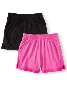 Active Mesh Shorts, 2-Pack (Little Girls & Big Girls)