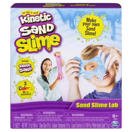 Kinetic Sand - Sand Slime Lab, All-in-One Kit for Ages 8 and Up
