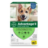 Advantage II Flea Treatment for Extra Large Dogs, 6 Monthly Treatments