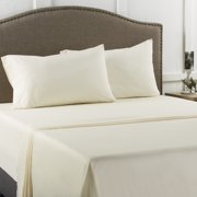 Mainstays 200 Thread Count Ivory Twin Flat Sheet, 1 Each