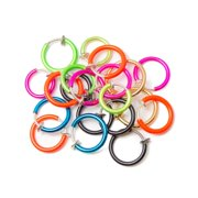 Non-piercing Fake Hoops Anodized Finish One Hundred Pack