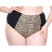 6e0cf9644e4 Women s Plus-Size Retro Leopard High-Waisted Bikini Swimsuit Bottom
