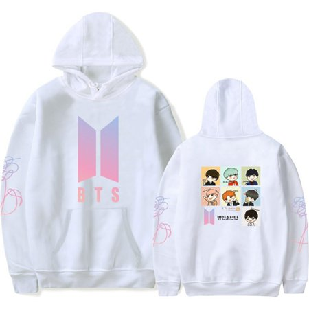 Logo Hoodie Top - Fancyleo BTS LOVE YOURSELF Women/men Long Sleeve Hoodies Sweatshirts K-Pop Bangtan New Album DNA Hoodie Sweatshirt Kpop Hip-hop Popular Idol BTS Plus Tops
