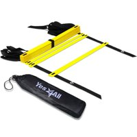 Yes4All Speed and Agility Training Ladder with Carry Bag - 8 Rung (Yellow)