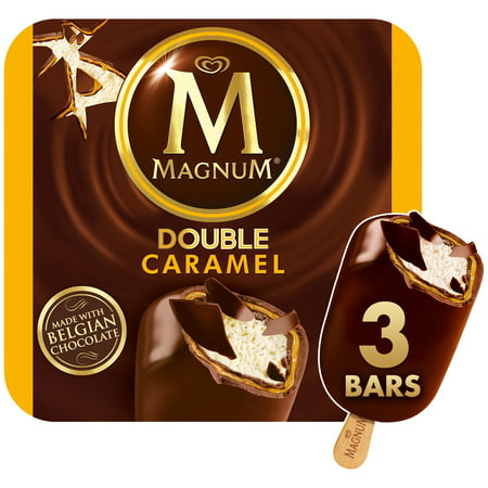 Magnum Ice Cream Bars Double Caramel Made With Belgian Chocolate 3 Count
