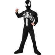 4b4b6102e74 Deluxe Black Spider-Man Muscle Chest Child Halloween Costume