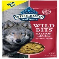 Blue Buffalo Wilderness Trail Wild Bits Grain Free Soft-Moist Training Dog Treats, Salmon Recipe 10-oz