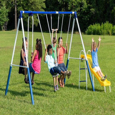 Xdp Recreation Play All Day Metal Swing Set Walmart Com