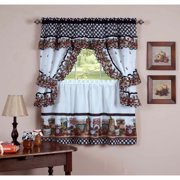 Rooster Motive Kitchen Curtains