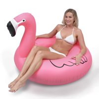 GoFloats Flamingo Party Tube Inflatable Swimming Pool Raft, Float In Style (for Adults and Kids)