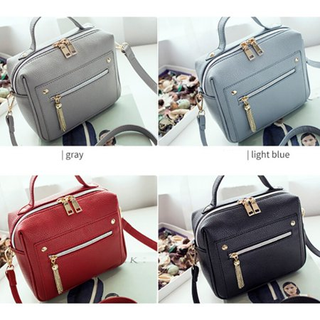 EFINNY Fashion Women Casual PU Leather Tote Small Shopping Shoulder Bag Messenger (Patent Leather Messenger)