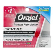Orajel™ Severe Toothache & Gum Relief Plus Cream 0.33 oz. Box
