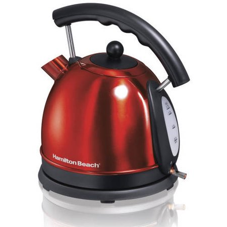 Red Classic Kettle - Hamilton Beach 1.7 Liter Dome Electric Kettle