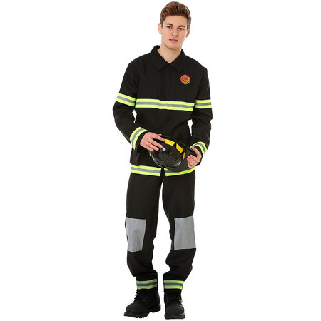 Boo! Inc. Men's Five-Alarm Firefighter Halloween Costume | Adult Dress Up Outfit